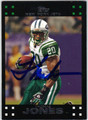 THOMAS JONES AUTOGRAPHED FOOTBALL CARD #120112C