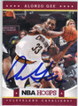 ALONZO GEE CLEVELAND CAVALIERS AUTOGRAPHED BASKETBALL CARD #120113B