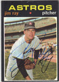 JIM RAY HOUSTON ASTROS AUTOGRAPHED VINTAGE BASEBALL CARD #120113C