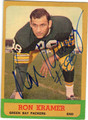 RON KRAMER GREEN BAY PACKERS AUTOGRAPHED VINTAGE FOOTBALL CARD #120113E