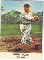 JIMMIE FOXX BOSTON RED SOX AUTOGRAPHED VINTAGE BASEBALL CARD #120113F