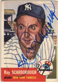 RAY SCARBOROUGH NEW YORK YANKEES AUTOGRAPHED VINTAGE BASEBALL CARD #120113H