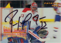 PATRICK ROY AUTOGRAPHED HOCKEY CARD #11812J
