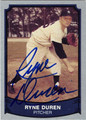 RYNE DUREN NEW YORK YANKEES AUTOGRAPHED BASEBALL CARD #120212D