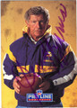 JERRY BURNS MINNESOTA VIKINGS AUTOGRAPHED FOOTBALL CARD #120213A