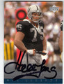 HOWIE LONG OAKLAND RAIDERS AUTOGRAPHED FOOTBALL CARD #120213E