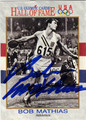 BOB MATHIAS AUTOGRAPHED OLYMPICS CARD #120213H