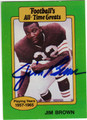 JIM BROWN CLEVELAND BROWNS AUTOGRAPHED VINTAGE FOOTBALL CARD #120313B