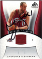 ZYDRUNAS ILGAUSKAS AUTOGRAPHED PIECE OF THE GAME BASKETBALL CARD #120412D