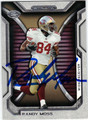 RANDY MOSS SAN FRANCISCO 49ers AUTOGRAPHED FOOTBALL CARD #120413K