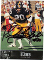 ROCKY BLEIER AUTOGRAPHED FOOTBALL CARD #120511K