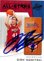 DIRK NOWITZKI AUTOGRAPHED BASKETBALL CARD #120511T
