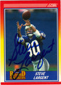 STEVE LARGENT AUTOGRAPHED FOOTBALL CARD #120511S