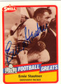 ERNIE STAUTNER PITTSBURGH STEELERS AUTOGRAPHED FOOTBALL CARD #120513E