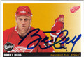 BRETT HULL DETROIT RED WINGS AUTOGRAPHED HOCKEY CARD #120513K