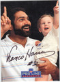 FRANCO HARRIS AUTOGRAPHED FOOTBALL CARD #120610D