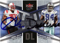 AMOBI OKOYE & DeMARCUS WARE DOUBLE AUTOGRAPHED FOOTBALL CARD #120610P