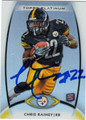 CHRIS RAINEY AUTOGRAPHED ROOKIE FOOTBALL CARD #120612i