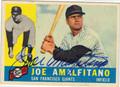 JOE AMALFITANO SAN FRANCISCO GIANTS AUTOGRAPHED VINTAGE BASEBALL CARD #120613C