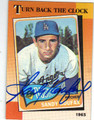 SANDY KOUFAX LOS ANGELES DODGERS AUTOGRAPHED BASEBALL CARD #120613F