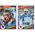 DANNY WHITE & TONY HILL SET OF 2 AUTOGRAPHED FOOTBALL CARDS #120710M