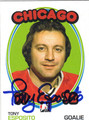 TONY ESPOSITO AUTOGRAPHED HOCKEY CARD #120711C
