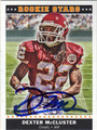 DEXTER McCLUSTER KANSAS CITY CHIEFS AUTOGRAPHED FOOTBALL CARD #120711N