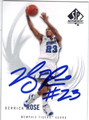 DERRICK ROSE MEMPHIS TIGERS AUTOGRAPHED ROOKIE BASKETBALL CARD #120713i