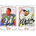 RASHARD MENDENHALL & MEWELDE MOORE AUTOGRAPHED SET OF 2 FOOTBALL CARDS #120810i