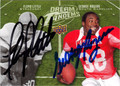 FLOYD LITTLE & GEORGE ROGERS DOUBLE AUTOGRAPHED FOOTBALL CARD #120811F