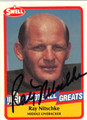 RAY NITSCHKE AUTOGRAPHED FOOTBALL CARD #120811G