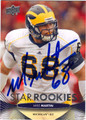 MIKE MARTIN AUTOGRAPHED ROOKIE FOOTBALL CARD #120712K