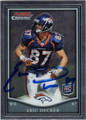 ERIC DECKER DENVER BRONCOS AUTOGRAPHED ROOKIE FOOTBALL CARD #120713A