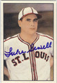 LUKE SEWELL ST LOUIS BROWNS AUTOGRAPHED VINTAGE BASEBALL CARD #120713B