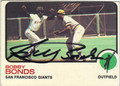 BOBBY BONDS SAN FRANCISCO GIANTS AUTOGRAPHED VINTAGE BASEBALL CARD #120813A