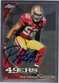 PATRICK WILLIS SAN FRANCISCO 49ers AUTOGRAPHED FOOTBALL CARD #120813J