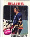 BOB GASSOFF ST LOUIS BLUES AUTOGRAPHED VINTAGE HOCKEY CARD #120813L