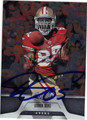 VERNON DAVIS SAN FRANCISCO 49ers AUTOGRAPHED FOOTBALL CARD #120813K