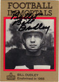 BILL DUDLEY AUTOGRAPHED FOOTBALL CARD #120912C
