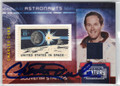 CHARLES DUKE AUTOGRAPHED & NUMBERED PIECE OF THE GAME POSTAGE STAMP CARD #120912E