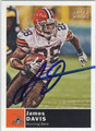 JAMES DAVIS CLEVELAND BROWNS AUTOGRAPHED FOOTBALL CARD #120913L