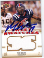 MIKE WALLACE AUTOGRAPHED PIECE OF THE GAME FOOTBALL CARD #121012F