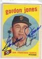 GORDON JONES SAN FRANCISCO GIANTS AUTOGRAPHED VINTAGE BASEBALL CARD #121013H
