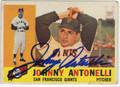 JOHNNY ANTONELLI SAN FRANCISCO GIANTS AUTOGRAPHED VINTAGE BASEBALL CARD #121013L
