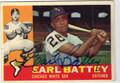 EARL BATTEY AUTOGRAPHED VINTAGE BASEBALL CARD #121112B