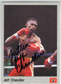 JEFF CHANDLER AUTOGRAPHED BOXING CARD #121113E