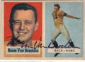 NORM VAN BROCKLIN LOS ANGELES RAMS AUTOGRAPHED VINTAGE FOOTBALL CARD #121113F
