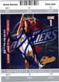 ZYDRUNAS ILGAUSKAS AUTOGRAPHED BASKETBALL CARD #12112A