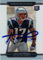TAYLOR PRICE AUTOGRAPHED & NUMBERED ROOKIE FOOTBALL CARD #12112D