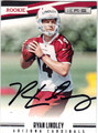 RYAN LINDLEY ARIZONA CARDINALS AUTOGRAPHED ROOKIE FOOTBALL CARD #12113D